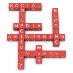 Social netwroking and internet concept crossword
