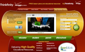 Verizon Thinkfinity educational website