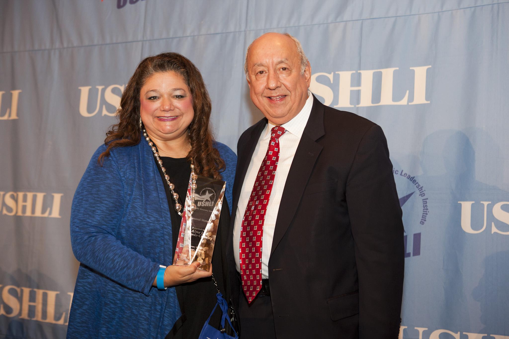 Alma Guajardo-Crossley with Dr. Juan Andrade