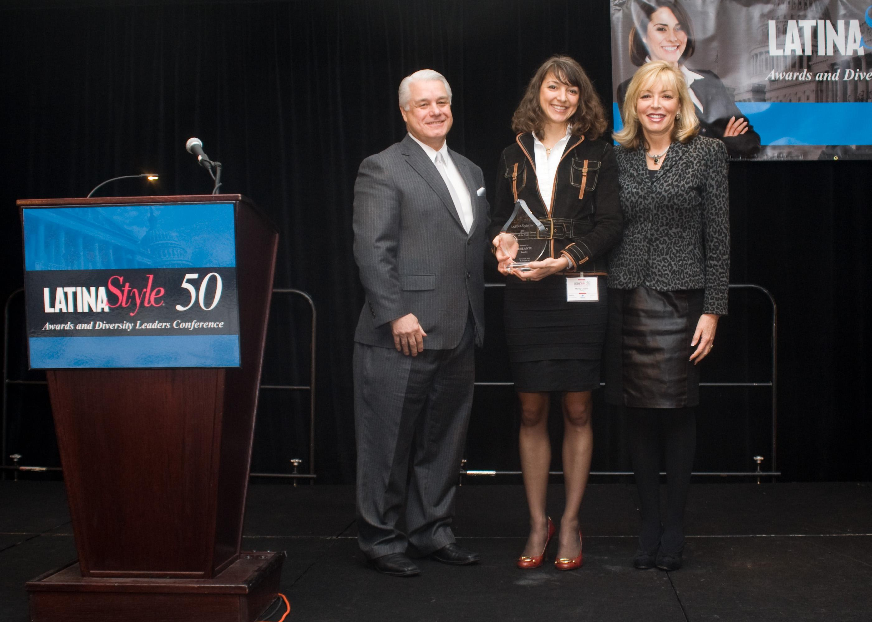 (L to R) Robert Bard, chief executive officer, Latina Style; Mandy Lozano, Vice President of Frito-Lay Adelante, and Manager, Marketing -Frito-Lay North America; and Marie Quintana, Senior Vice President, Multicultural Marketing and Sales, PepsiCo
