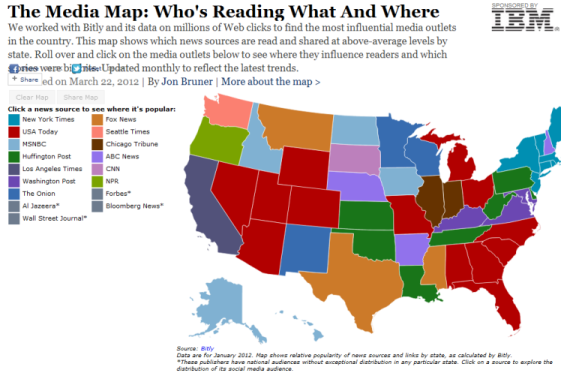 The Media Map: Who's Reading What and Where [INFOGRAPHIC]