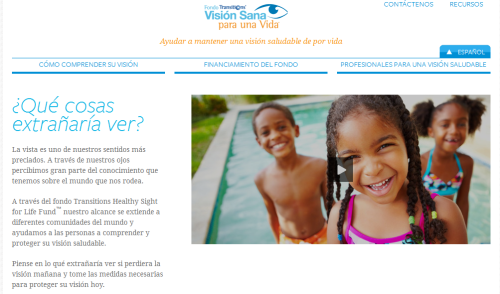 Transitions Optical Introduces Revamped Spanish-Language Fund Website