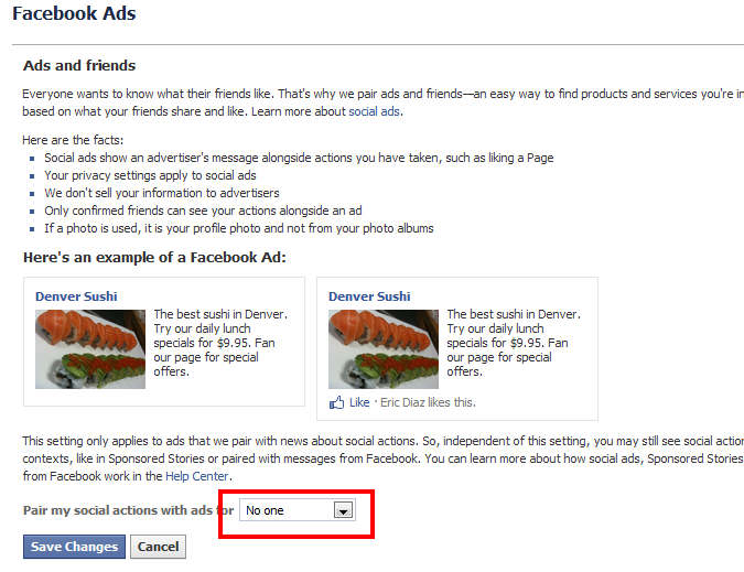 How to Remove Your Image and Name from Facebook Ads