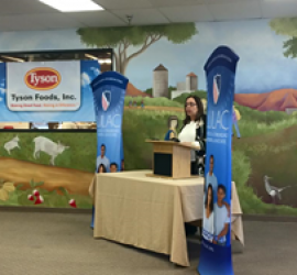 LULAC joins Tyson Foods to deliver a truckload of protein to Roadrunner Food Bank