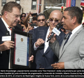 New York names street after Don Francisco