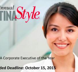 "LATINA Style accepting nominations for ""LATINA Executive of the Year"" award"