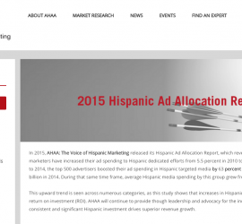 AHAA releases study showing connection between ad allocation and revenue growth in Hispanic market