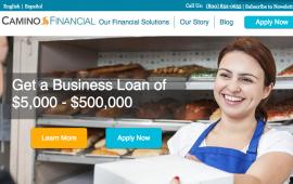 Screenshot, Camino Financial Web site,  www.caminofinancial.com