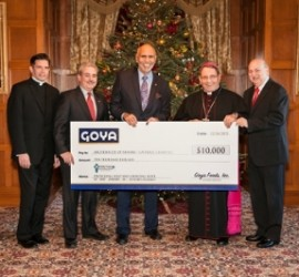 Goya donates $10K to Catholic Charities in Newark as part of Goya Gives campaign