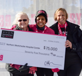 Northern Westchester Hospital receives $75,000 from the Avon Foundation for Women to support breast health initiative for underserved women
